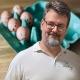 Ostereier fürchten sich vor Bäcker zu Ostern